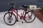 Elektrische fiets (ebike) ombouwkit assembly - hub motor, controller en accu pack installatie