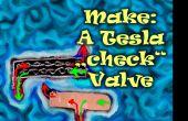 """Merk: Een Tesla """"check"""" ventiel Mod. uit Foam clay!"""