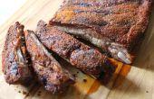 Oven ribben met pittige droog wrijven gekookt