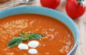 Romige huisgemaakte tomatensoep