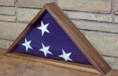 Vitrine voor een militaire onderscheidingen vlag