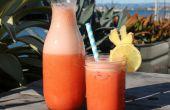 Aardbei gember limonade