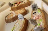 Vanille kokosnoot Halloween kist Cupcakes met boter crème glazuur