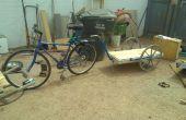 ALLE gerecycleerd ZWANENHALS fiets aanhangwagen