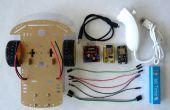 ESP8266 en Visuino: WiFi-afstandsbediening Smart auto Robot met Wii Nunchuck