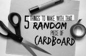 5 dingen om te maken met dat willekeurige stuk karton