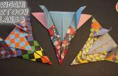 Cartoon-geïnspireerde Origami vliegtuigen