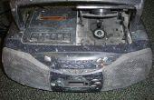 Een regel in toevoegen aan een boombox met een cassettespeler