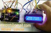 ARDUINO UNO met 16 x 2 LCD DISPLAY