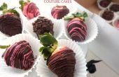 Perfecte chocolade aardbeien bedekt voor Valentijnsdag