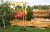 7-in-1 zomer squeeze: bubbelbad, dek, schommels, arbor, Gelbrander, vogelhuisje, hangmat schommel