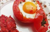 Ei in een Nest van de tomaat!