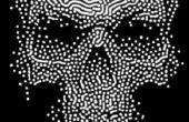 Griezelige Halloween schedel decoratie
