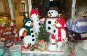 Haak en brei Snowman familie