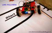 EENVOUDIGE regel VOLGELING ROBOT (interne Sensor)
