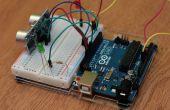 Voorbeeld van de HC-SR04 en eenvoudige Arduino