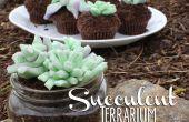 Eetbare succulente Terrarium Cupcakes!