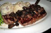 Hoe maak je een grote Steak met Pan jus druipen.