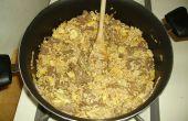 (Vlees hier invoegen) Gebakken rijst