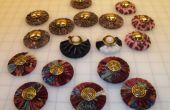 Stof bedekte naaien patroon gewichten