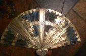 Opvouwbare messing ventilator met geëtste ontwerpen