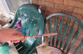 Strek kromgetrokken Tafeltennis peddel (racket, vleermuis, raquet) met een druk op de diy vleermuis