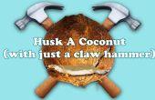 Hoe schil een kokosnoot (met alleen een klauw hamer)