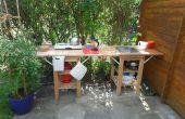 Outdoor/indoor keuken voor tuinhuisje