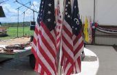 Vlag Display Base: 7-vlag instelbare hoek boeket