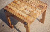 Pallet houten tafel/stoel en Upcycled kussen