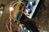 Ultrasone liniaal met LCD en Arduino