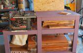 Tabel zag Workbench met hout opslag