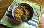 Chanay ke daal karela (split kikkererwten of garbanzo bonen met bittere kalebas)