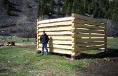 Hoe het bouwen van een blokhut met Zwaluwstaart inkepingen
