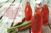 Honing & aardbei-rabarber gefermenteerde Soda
