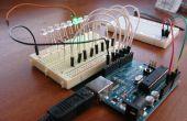 8-LED Larson Scanner met Arduino