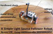 Eenvoudigste lichtbron volgeling Robot