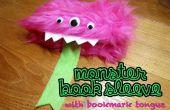 Monster boek mouw met bladwijzer tong