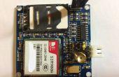 Met behulp van een SIM900A GSM/GPRS module in Australië