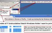Voor het snel afdrukken van de lijst met bestanden in een map van Windows