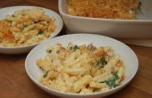 Awesome macaroni kaas met pancetta & spinazie