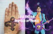 Hou van symbool Face Paint (geïnspireerd door Prince)