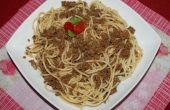Spaghetti in gehakt vlees