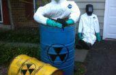 Nucleaire kernsmelting slachtoffers maken van bestaande Halloween decoraties.