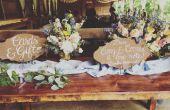 Faux Rusted bruiloft tekenen met belettering