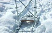 DIY - zelfgemaakte hond slee / slee Kick / sneeuwscooter Sled