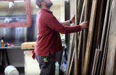 Aangepaste teruggewonnen hout teken