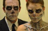 Skelet Halloween Make-up