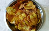 Knapperige aardappel Chips thuis maken