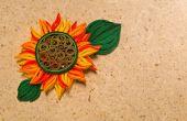 Hoe maak je gele zon bloem Design met behulp van papier Art filigraan